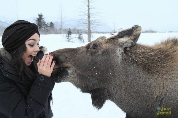 Vanessa Hudgens en Alaska.