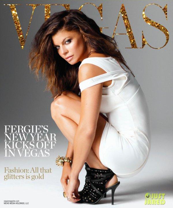 Fergie pose pour Vegas magazine.