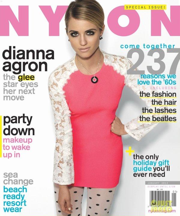 Dianna Agron pose pour Nylon.