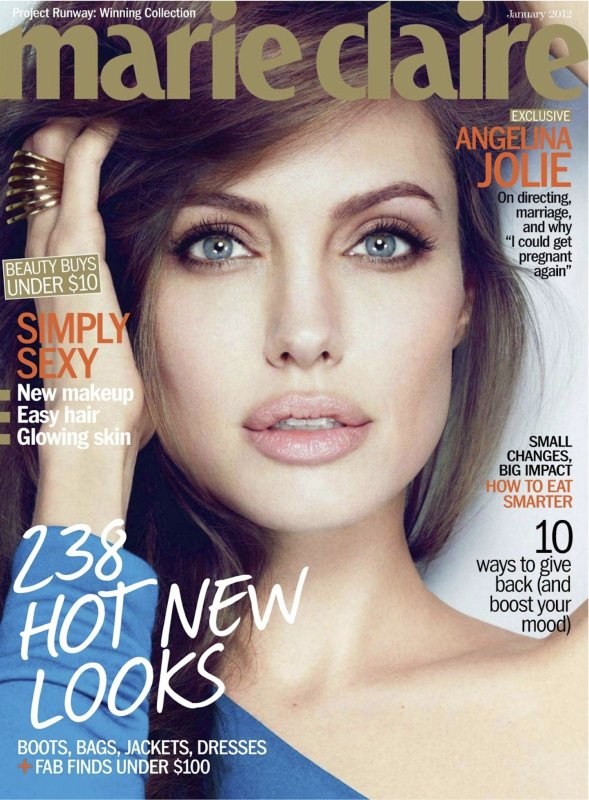 Angelina Jolie pose pour Marie Claire.