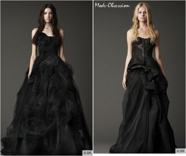Vera Wang  robes de mariées noires