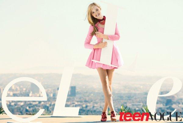 Elle Fanning pose pour Teen Vogue.