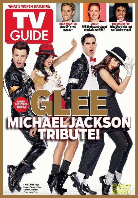 Les acteurs de Glee en couverture de TV Guide.