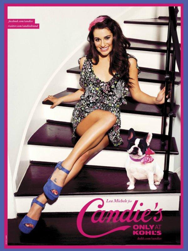 Lea Michele pose pour Candie's.