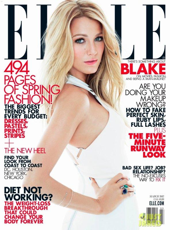 Blake Lively pose pour ELLE.