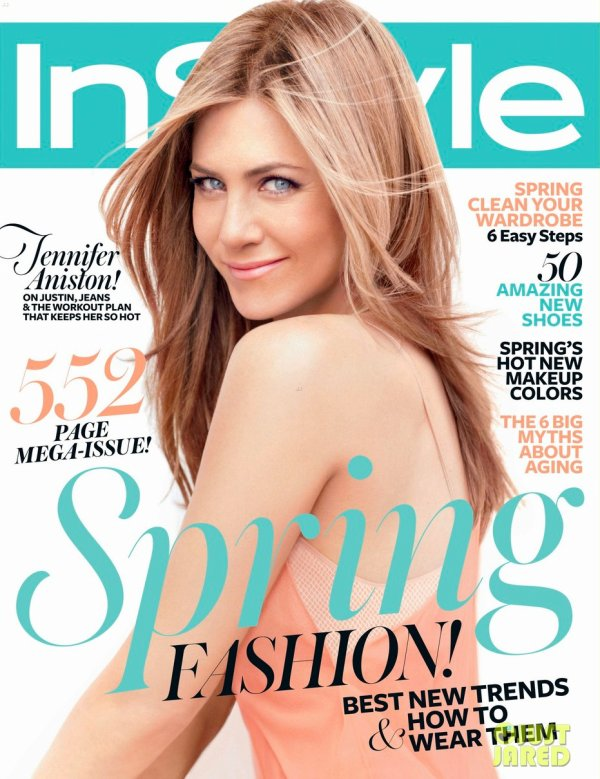 Jennifer Aniston pose pour InStyle.