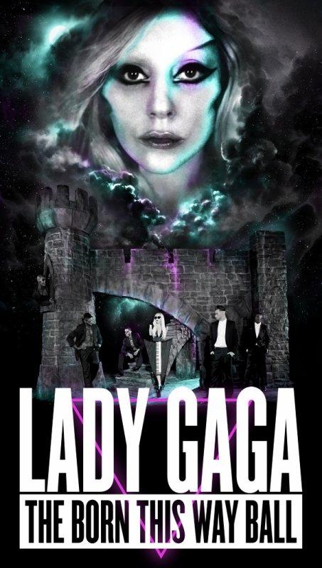 Lady Gaga  affiche nouvelle tournée