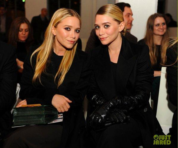 Olivia Palermo et les soeurs Olsen au défilé QVC's. Fashion Week de New York