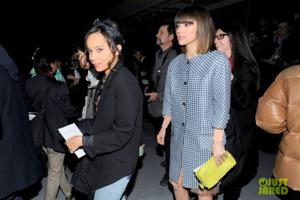 Zoe Kravitz à la Fashion Week de New York.