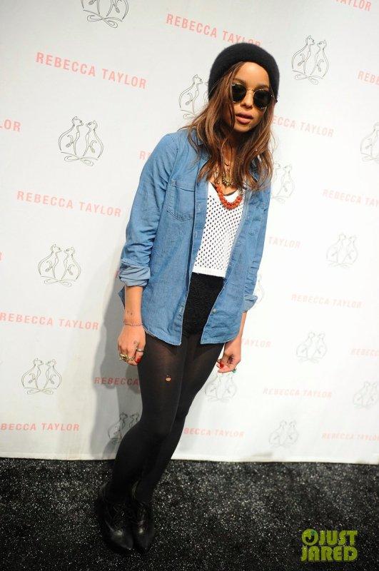 Zoe Kravitz à la Fashion Week de New York.
