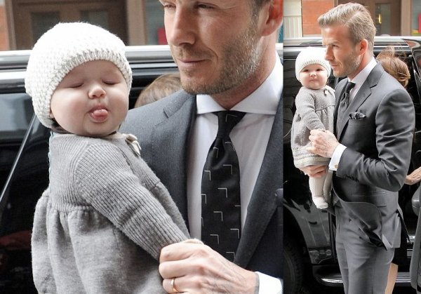 David Beckham au défilé de sa femme. Fashion Week de New York