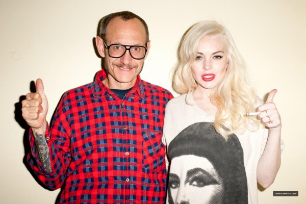 Lindsay Lohan photographiée par Terry Richardson.