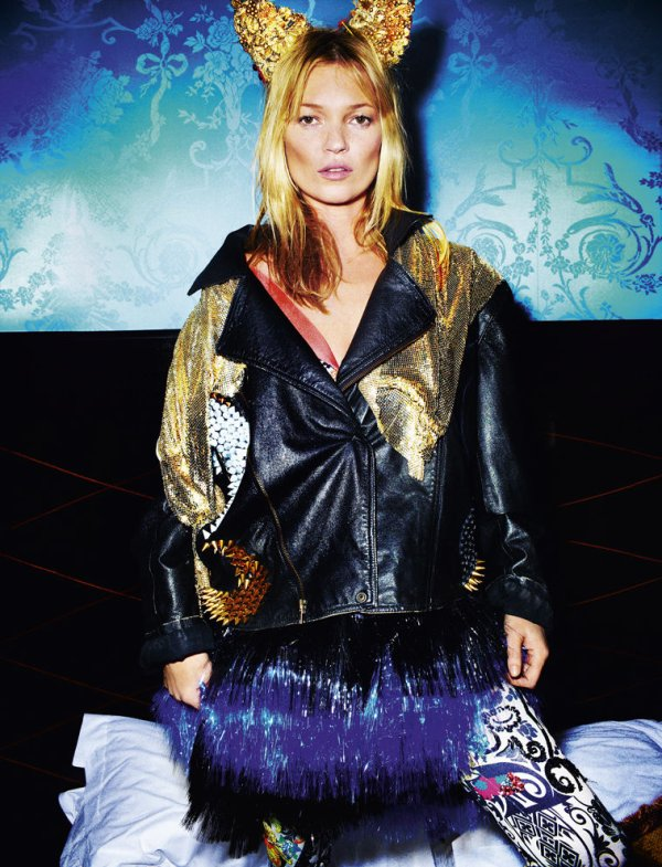 Kate Moss pose pour Love.