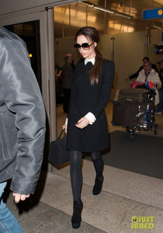 Victoria Beckham à l'aéroport LAX. Los Angeles