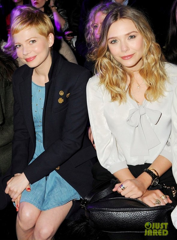 Michelle Williams au défilé Mulberry. Fashion Week de Londres