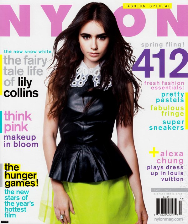 Lily Collins pose pour Nylon.