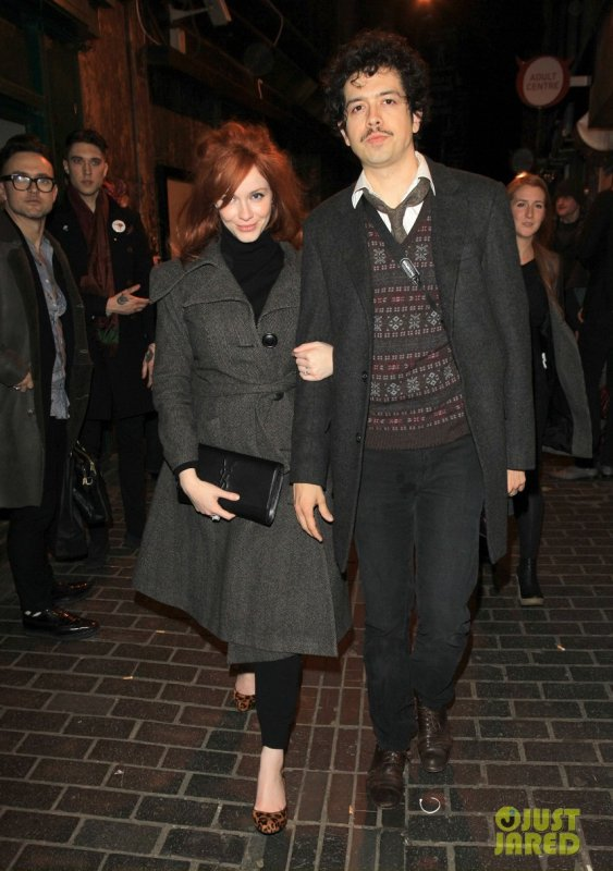 Christina Hendricks de sortie. Londres