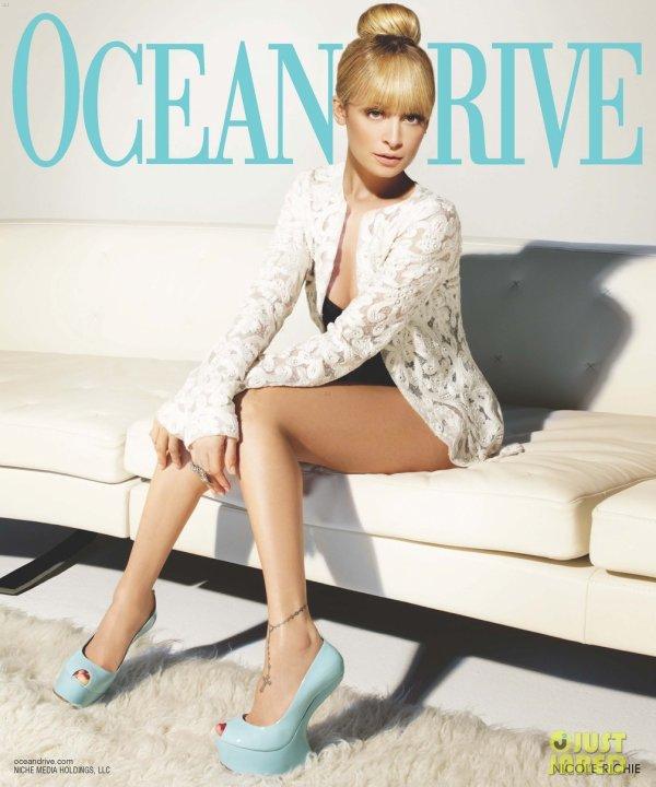 Nicole Richie pose pour Ocean Drive.