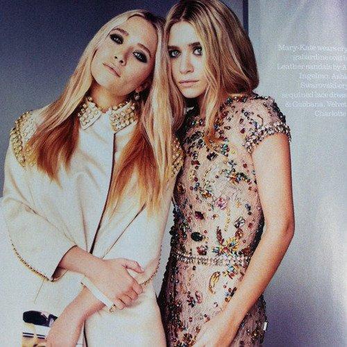 Les soeurs Olsen posent pour ELLE.