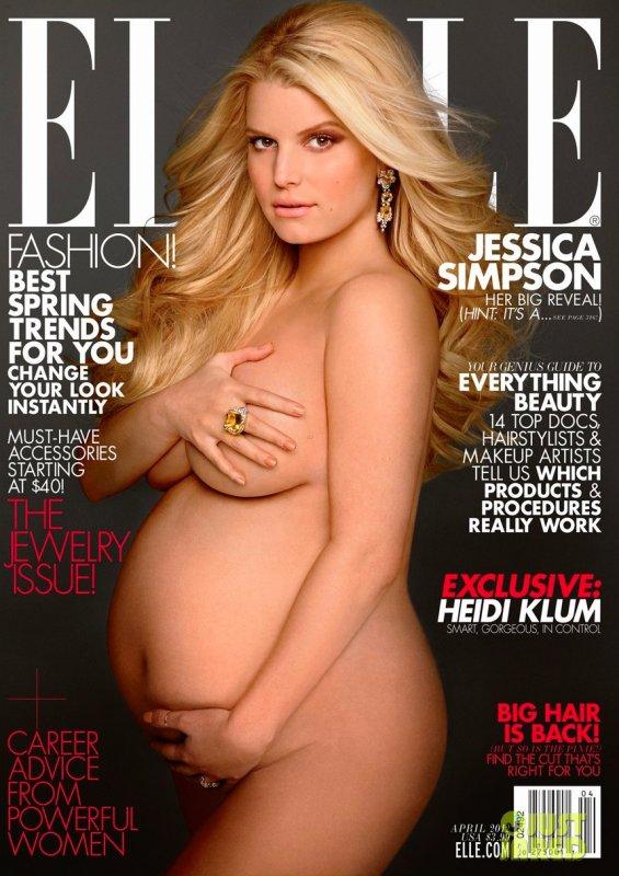Jessica Simpson pose pour ELLE.
