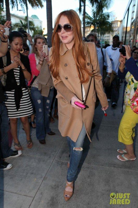 Lindsay Lohan de sortie. Beverly Hills