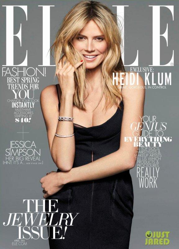 Heidi Klum pose pour ELLE.