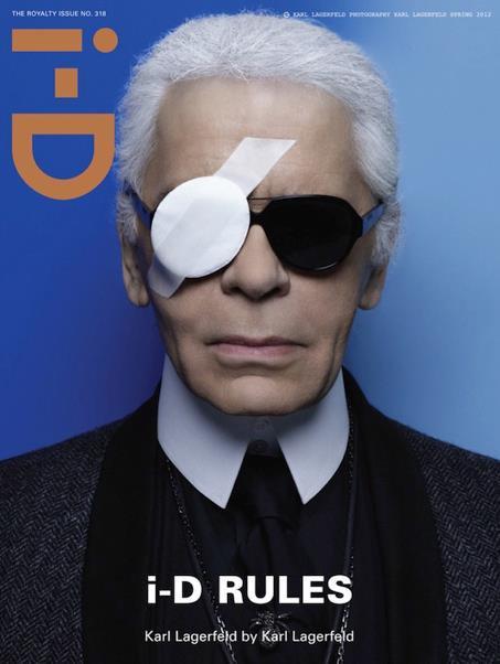 Karl Lagerfeld pose pour le magasine I-D.