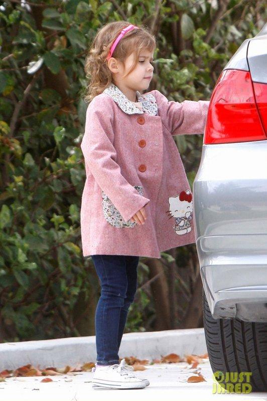 Jessica Alba de sortie avec ses filles. Santa Monica, Californie
