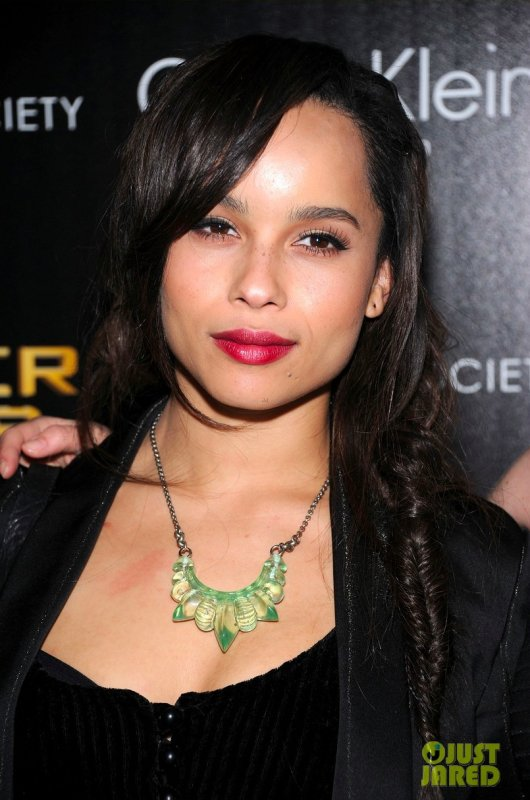 Zoe Kravitz à une projection du film Hunger Games. New York
