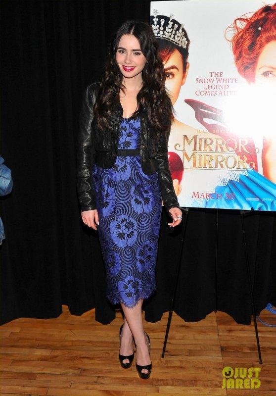 Lily Collins fait la promo de Mirror Mirror. New York
