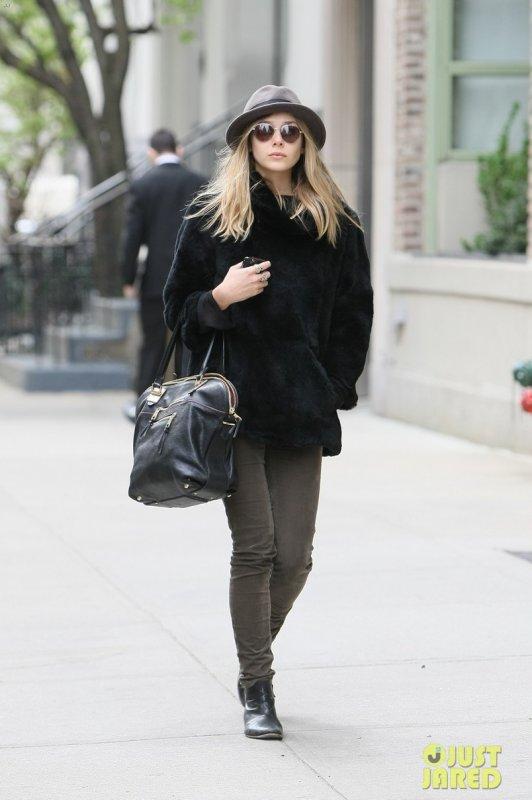 Elizabeth Olsen de sortie. New York