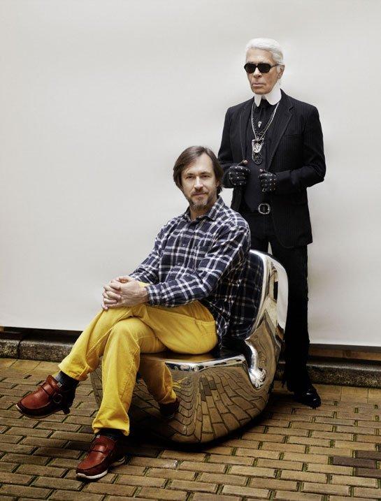 Karl Lagerfeld, rédacteur en chef de AD. source : Vogue.fr