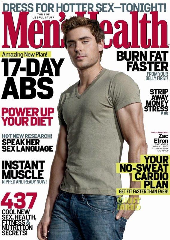 Zac Efron pose pour Men's Health.