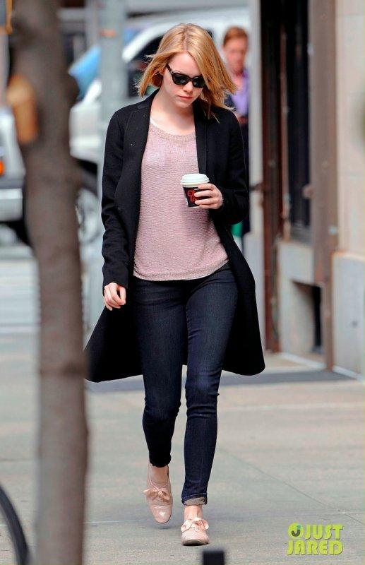 Emma Stone de sortie.