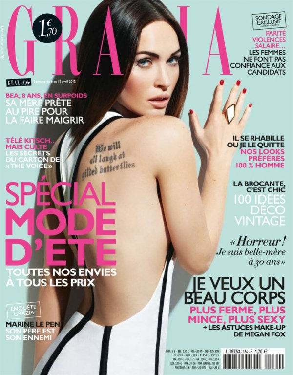 Megan Fox pose pour Grazia.