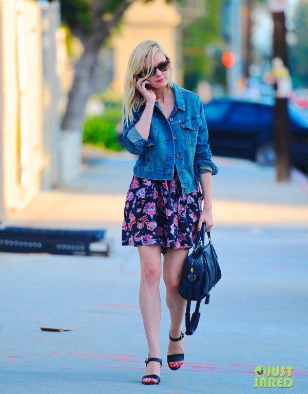Kirsten Dunst de sortie. Los Angeles