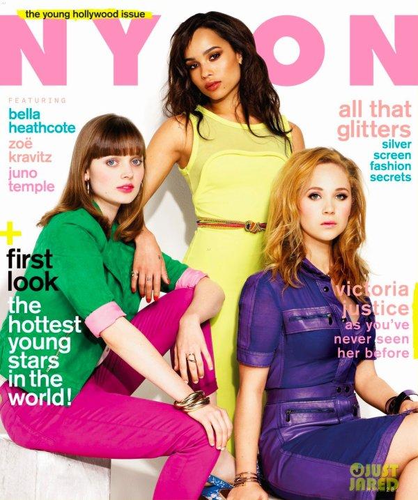 Zoe Kravitz pose pour Nylon.