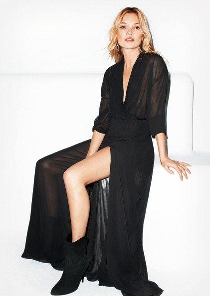 Kate Moss pose pour Mango.