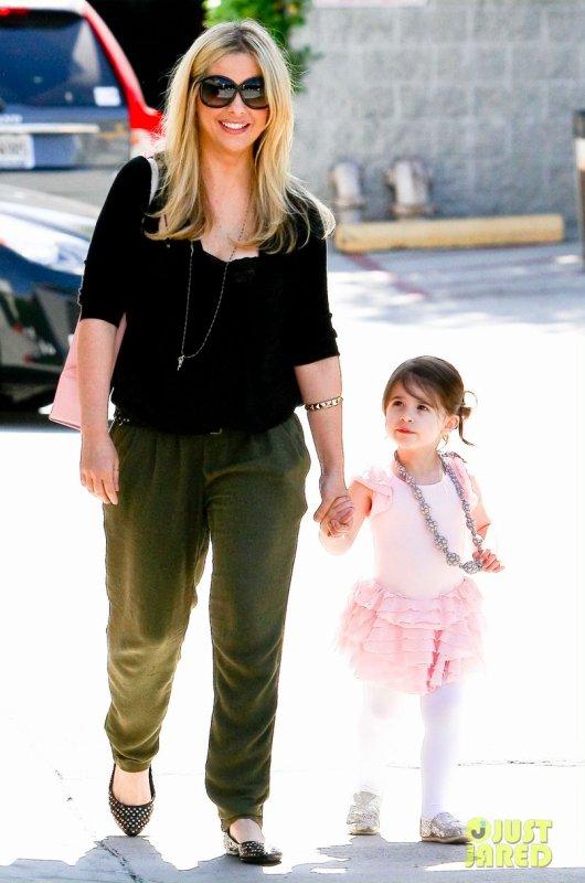 Sarah Michelle Gellar emmène sa fille à la danse. Santa Monica, Californie