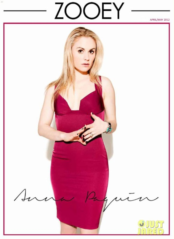Anna Paquin pose pour Zooey.