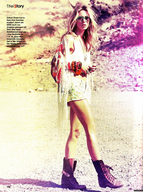 Gillian Zinser pose pour InStyle.