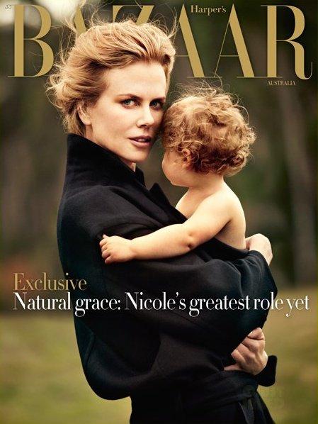 Nicole Kidman pose avec sa fille pour Harper's Bazaar.