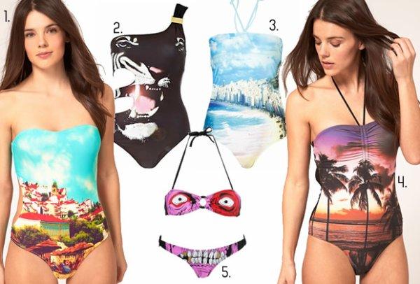 Les tendances maillots de bain 2012. source : Madmoizelle.com