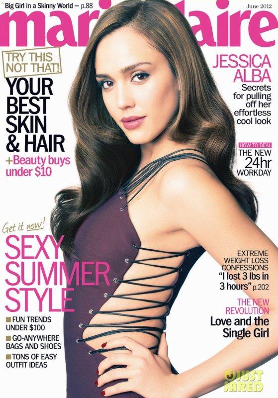 Jessica Alba pose pour Marie Claire.