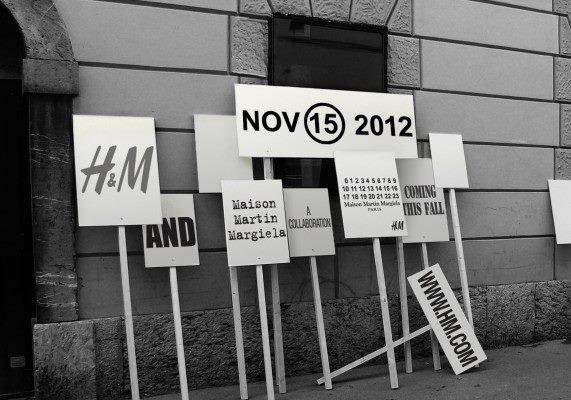 Maison Martin Margiela x H&M source : Vogue.fr