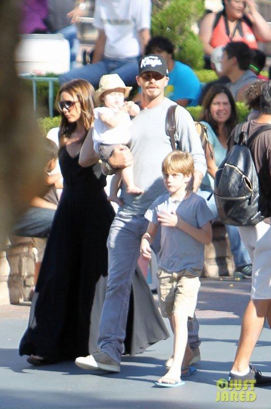 Les Beckham chez Disney Land.