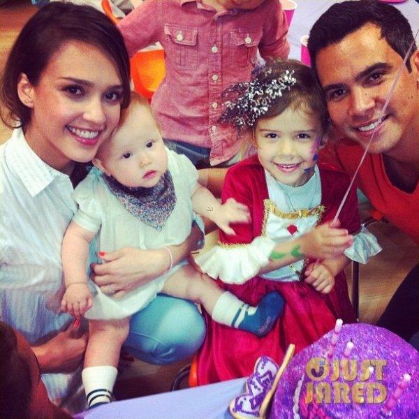 Jessica Alba a fêté les 4 ans de sa fille Honor.