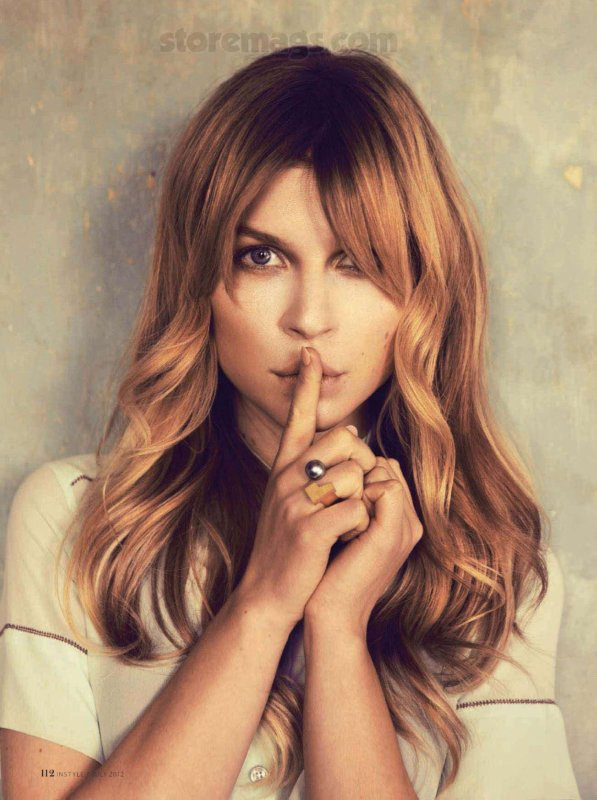 Clémence Poesy pose pour InStyle.