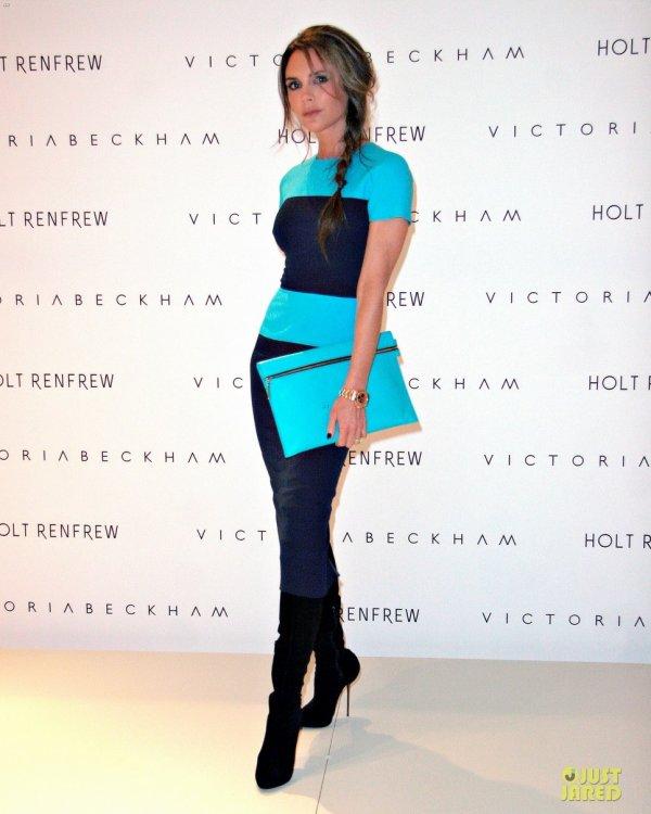 Victoria Beckham en promo pour sa ligne de vêtements. Canada