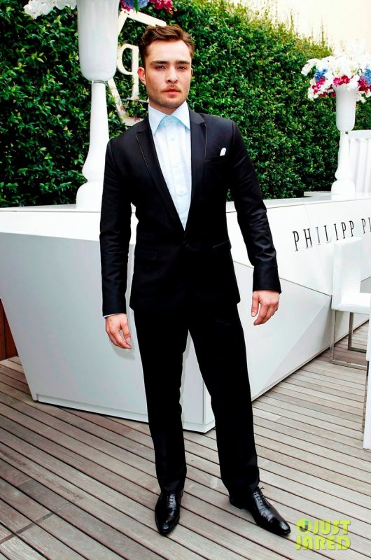 Ed Westwick à la Fashion Week Homme. Italie
